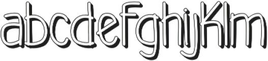 akiko shadow otf (400) Font LOWERCASE