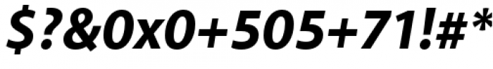 Akagi Pro Extra Bold Italic Font OTHER CHARS