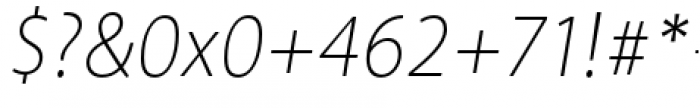 Akagi Pro Extra Light Italic Font OTHER CHARS