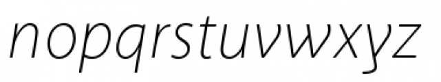 Akagi Pro Extra Light Italic Font LOWERCASE