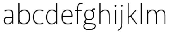 Akagi Pro Extra Light Font LOWERCASE