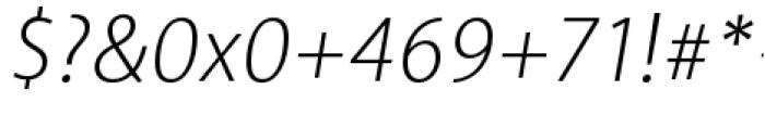 Akagi Pro Light Italic Font OTHER CHARS