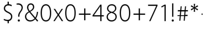 Akagi Pro Light Font OTHER CHARS