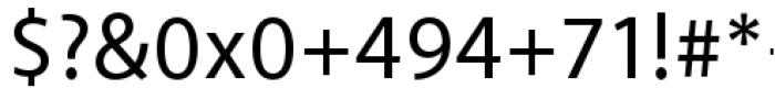 Akagi Pro Medium Font OTHER CHARS