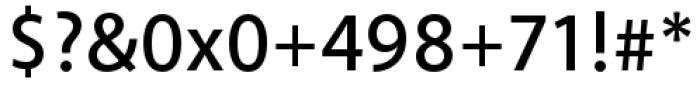 Akagi Pro Semibold Font OTHER CHARS