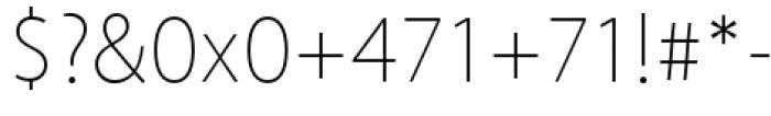 Akagi Pro Thin Font OTHER CHARS