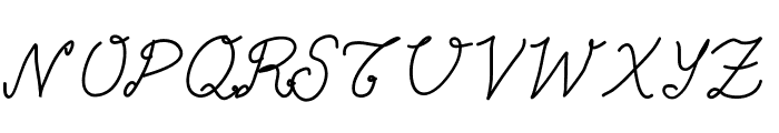 Aka-AcidGR-Calligram Font UPPERCASE