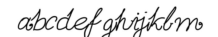 Aka-AcidGR-Calligram Font LOWERCASE