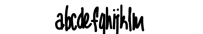 Aka-AcidGR-CompactaScript Font LOWERCASE