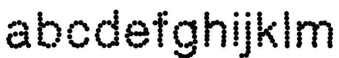 Aka-AcidGR-Dotted Font LOWERCASE