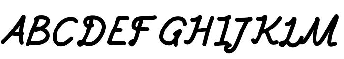 Aka-AcidGR-FatItalic Font UPPERCASE