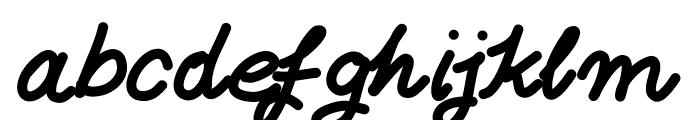 Aka-AcidGR-FatItalic Font LOWERCASE
