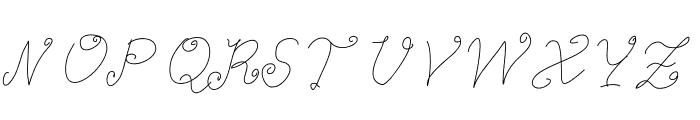 Aka-AcidGR-ImpressingTeacher Font UPPERCASE