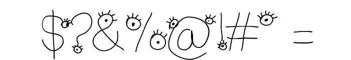 Aka-AcidGR-MakingMonsters Font OTHER CHARS