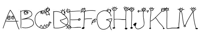 Aka-AcidGR-MakingMonsters Font UPPERCASE