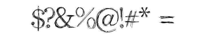 Aka-AcidGR-RomanScript Font OTHER CHARS