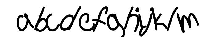 Aka-AcidGR-Sagging Font LOWERCASE