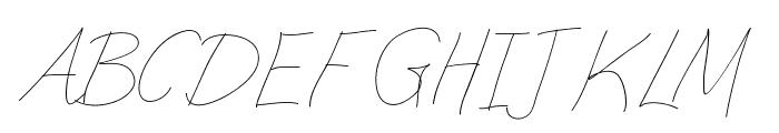 Aka-AcidGR-Slimthin Font UPPERCASE