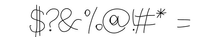 Aka-AcidGR-ThinBlackboard Font OTHER CHARS