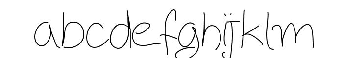 Aka-AcidGR-ThinBlackboard Font LOWERCASE