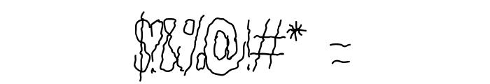 Aka-AcidGR-Tremor Font OTHER CHARS