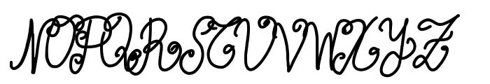 Aka-AcidGR-Wurly Font UPPERCASE