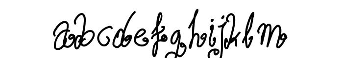 Aka-AcidGR-Wurly Font LOWERCASE