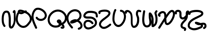 Aka-AcidGRSpagetti Font UPPERCASE