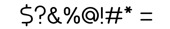 Akaju Light Font OTHER CHARS