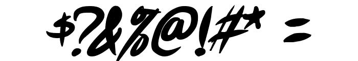 Akiba Punx 2 Bold Italic Font OTHER CHARS
