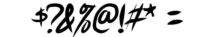 Akiba Punx 2 Italic Font OTHER CHARS
