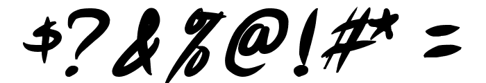 Akiba Punx Bold Italic Font OTHER CHARS