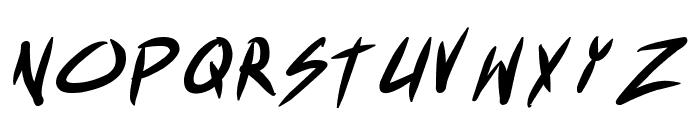 Akiba Punx Bold Italic Font UPPERCASE