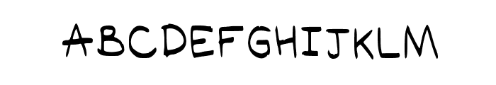 Akra Regular Font LOWERCASE