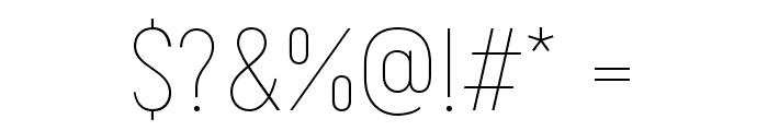 Akrobat-Thin Font OTHER CHARS