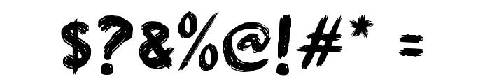Aksi Mosi Font OTHER CHARS