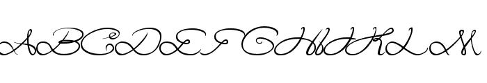 Aku Cinta Kamu Font UPPERCASE