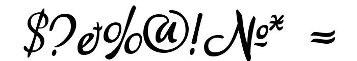 akaDora Font OTHER CHARS