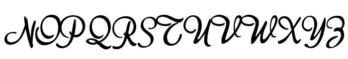 akaDora Font UPPERCASE
