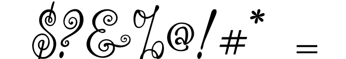akaFrivolity Font OTHER CHARS