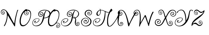 akaFrivolity Font UPPERCASE