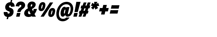Aktiv Grotesk Condensed Black Italic Font OTHER CHARS