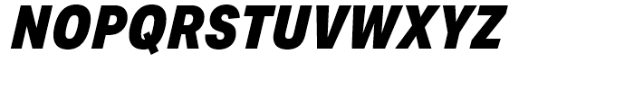 Aktiv Grotesk Condensed Black Italic Font UPPERCASE