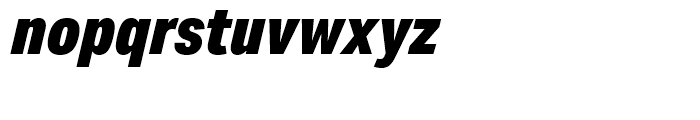 Aktiv Grotesk Condensed Black Italic Font LOWERCASE