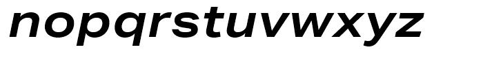 Aktiv Grotesk Extended Bold Italic Font LOWERCASE