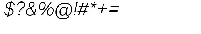 Aktiv Grotesk Light Italic Font OTHER CHARS