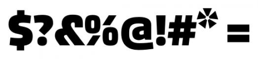 Akceler alt A Bold Font OTHER CHARS