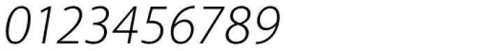 Akagi Light Italic Font OTHER CHARS