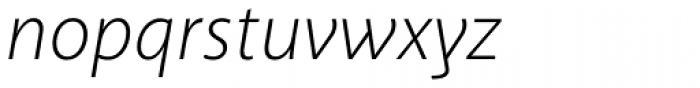 Akagi Light Italic Font LOWERCASE