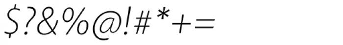 Akagi Pro ExtraLight Italic Font OTHER CHARS